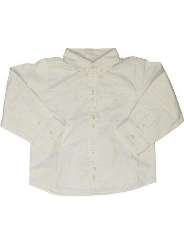Chemise manches longues garçon GRAIN DE BLÉ blanc 2 ans hiver #766038_1