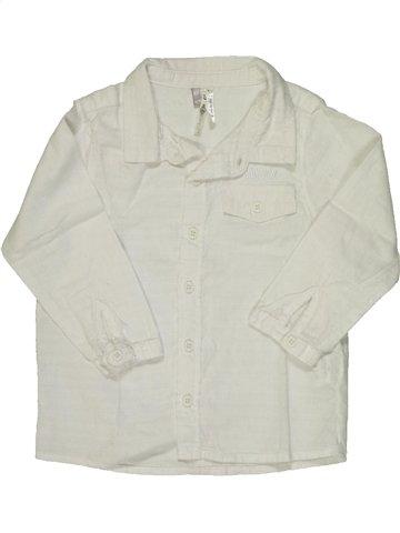 Chemise manches longues garçon ORCHESTRA blanc 18 mois hiver #856209_1