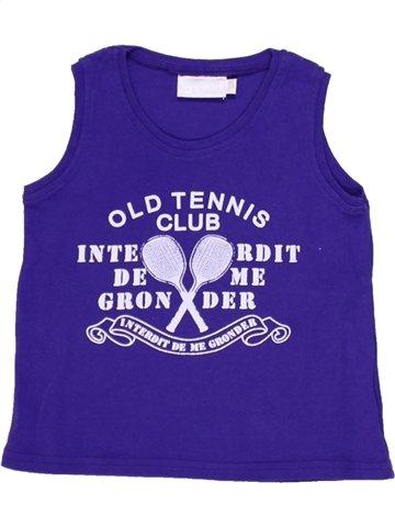 T-shirt sans manches fille INTERDIT DE ME GRONDER violet 2 ans été #924578_1