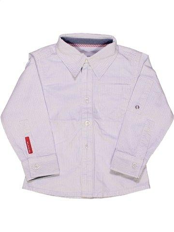 Chemise manches longues garçon MINIMAN blanc 2 ans hiver #931019_1